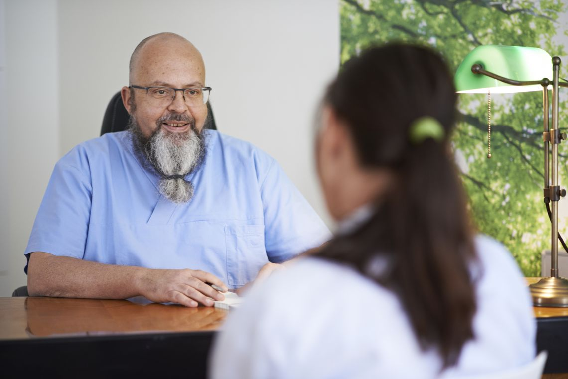 Patientengespräch mit Dr. Bruno Mähr